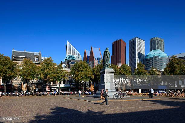 city life in the hague - hague stock photos and pictures