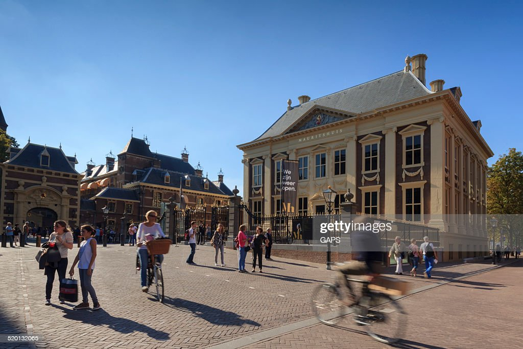 city life in The Hague : Stock Photo