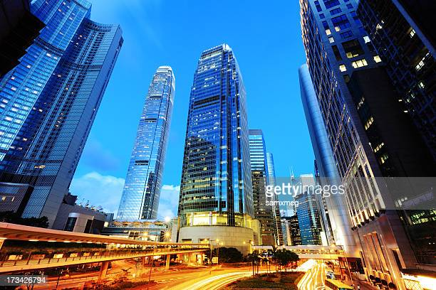 city life - two international finance center stock pictures, royalty-free photos & images