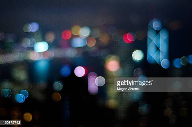 City lights bokeh