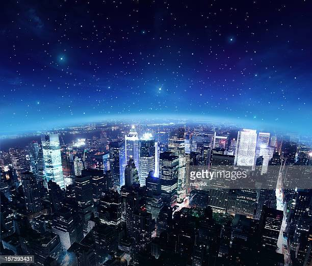 Die Lichter der Stadt von Sternennacht