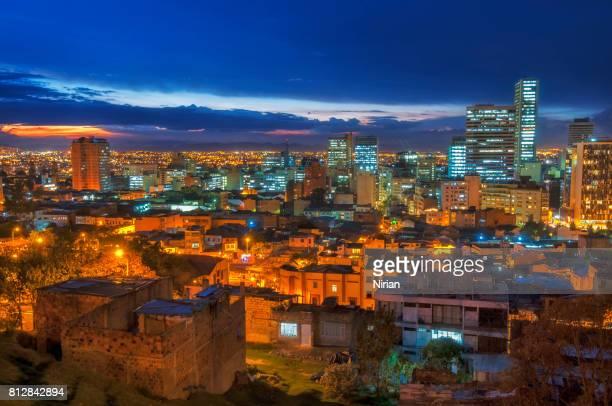 City lights in Bogota