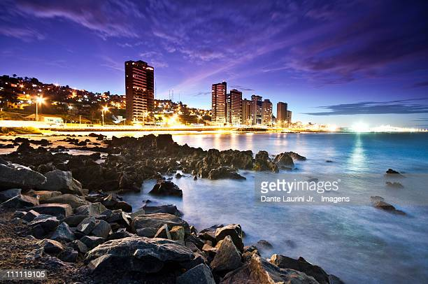 city lights - natal brazil stock pictures, royalty-free photos & images