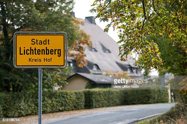 A city limits sign stands at the town edge on October 17 2016 in Lichtenberg Germany Peggy Knobloch a nineyearold disappeared on her way home from...