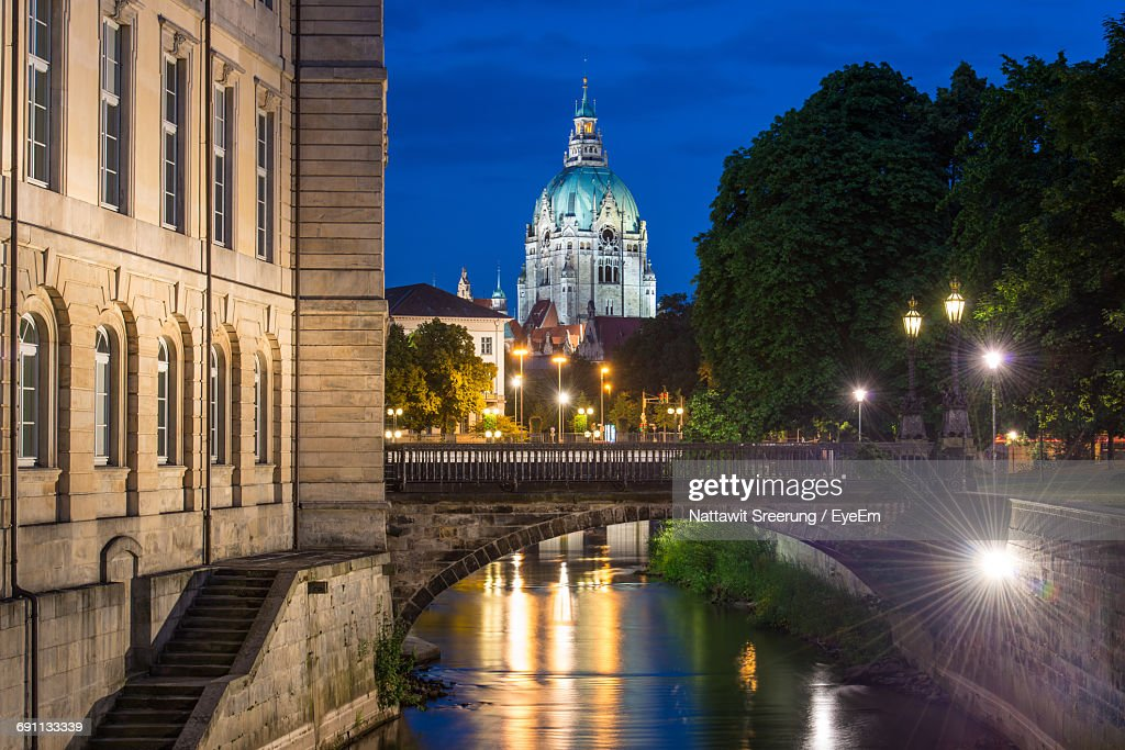 City Lit Up At Night : Stock Photo