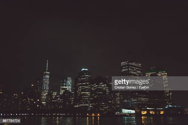 city lit up at night - bortes cristian stock photos and pictures