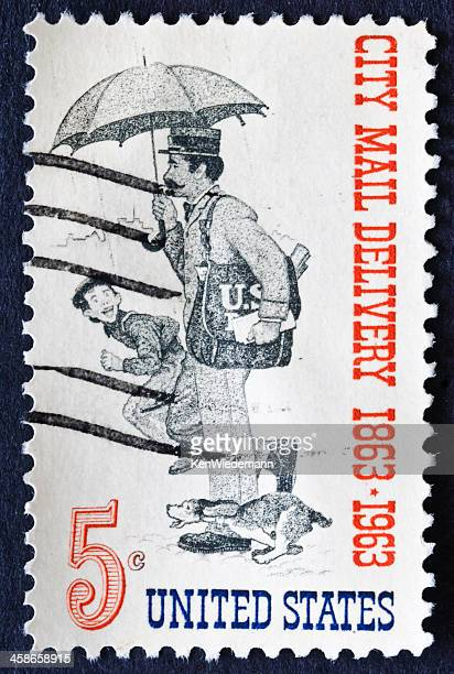 city mail delivery - norman rockwell stock pictures, royalty-free photos & images
