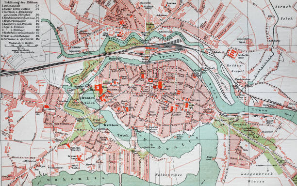 city map from the year 1892 Pictures | Getty Images