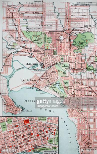Melbourne, Australia, digital improved reproduction of an original on