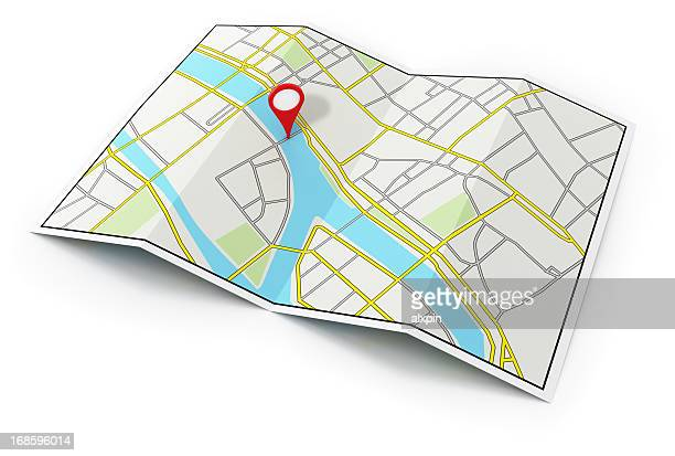 city map - pin stock pictures, royalty-free photos & images
