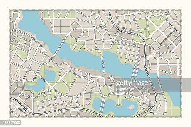 city map - generic location stock pictures, royalty-free photos & images