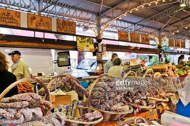 City market of Antibes.