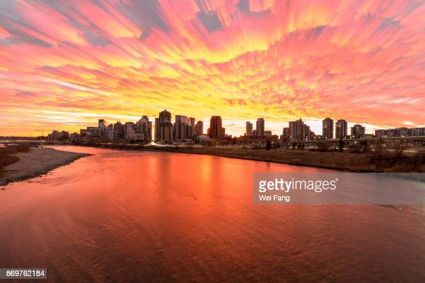 city morning - calgary alberta stock pictures, royalty-free photos & images