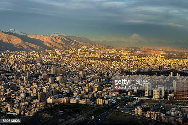 City & Mount Dam?vand from Milad Tower