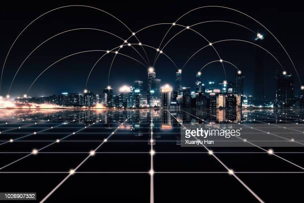 city network - joining the dots stock pictures, royalty-free photos & images