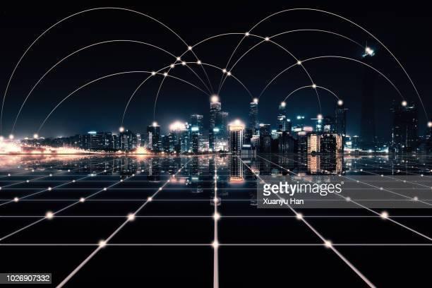 city network - 金融と経済 ストックフォトと画像