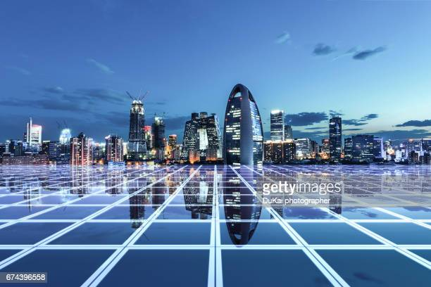 city network - beijing province stock photos and pictures