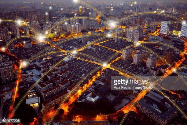 Stad netwerktechnologie in Shanghai, China
