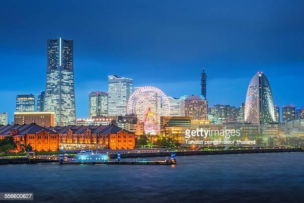 City Night at Yokohama City in Japan
