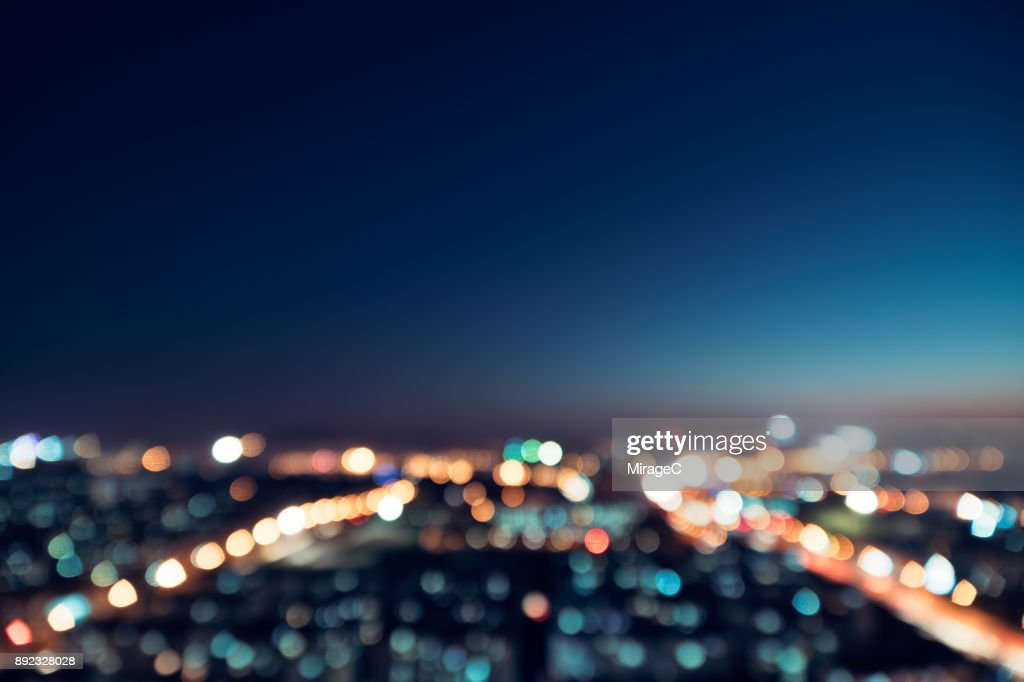 City Night Bokeh : Stock-Foto