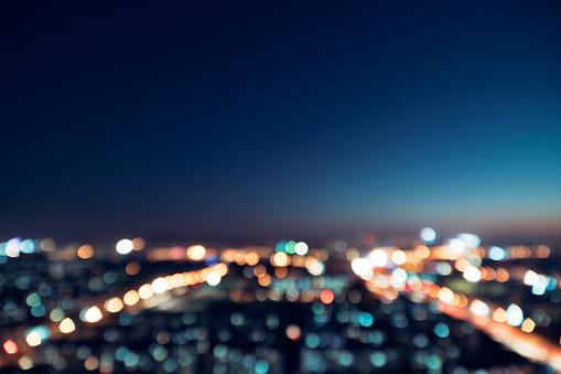City Night Bokeh - gettyimageskorea