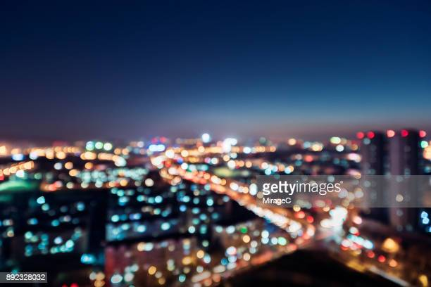 city night bokeh - miragec stock pictures, royalty-free photos & images