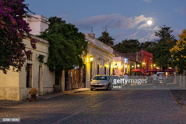 City night life at Colonia del Sacramento Uruguay