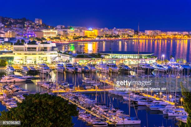 city night light in cannes, france. - copyright by siripong kaewla iad ストックフォトと画像