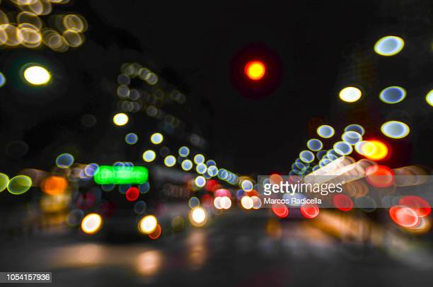 city night lights - radicella stock pictures, royalty-free photos & images