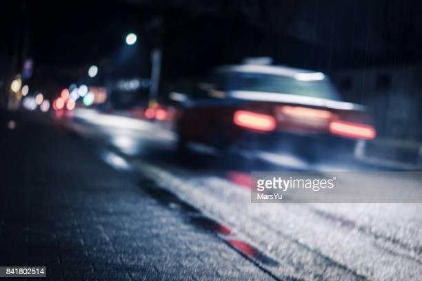 City night lights, road bridge with the lights