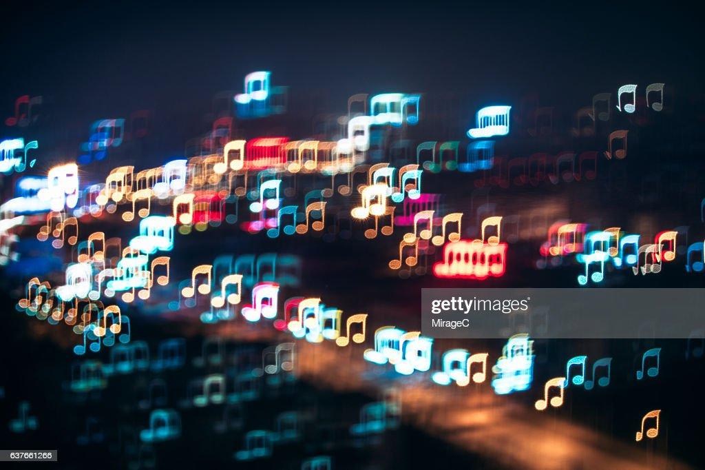 City Night Music Melody : Stock-Foto