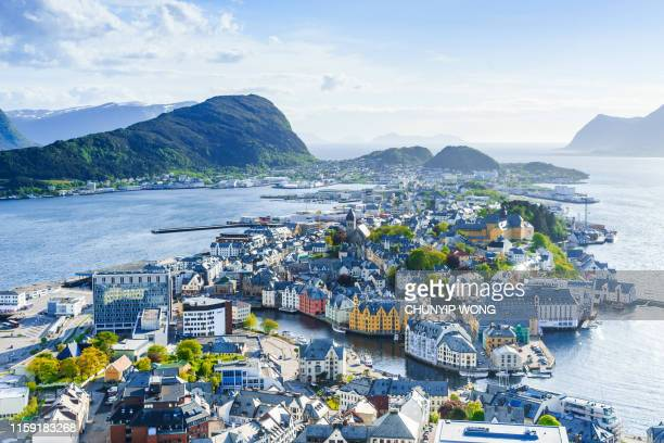 city of alesund, norway - norway stock pictures, royalty-free photos & images