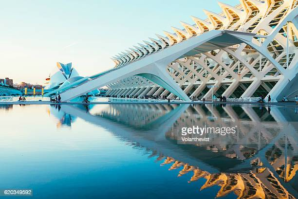 City of Arts and Sciences at sunset, Valencia, Spain