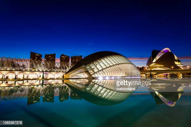 city of arts and sciences at valencia, spain - comunidad autonoma de valencia stock pictures, royalty-free photos & images