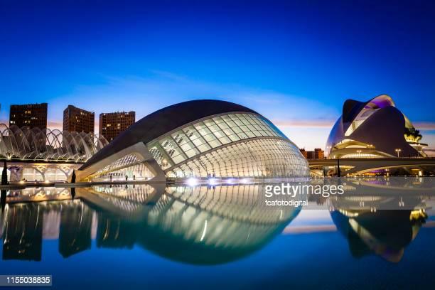 ciudad de las artes y las ciencias en valencia, españa - valencia fotografías e imágenes de stock