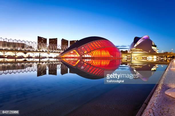 Ciudad de las artes y las Ciencias de Valencia, España