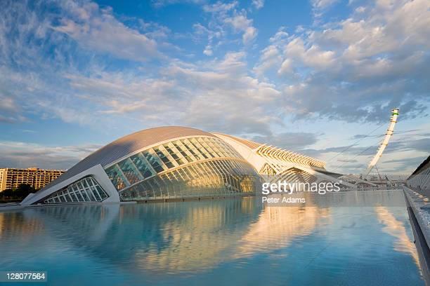 City of Arts and Sciences building, Ciudad de las Artes y de las Ciencias, Combined science museum, planetarium, oceanographic park and arts centre, Valencia, Spain