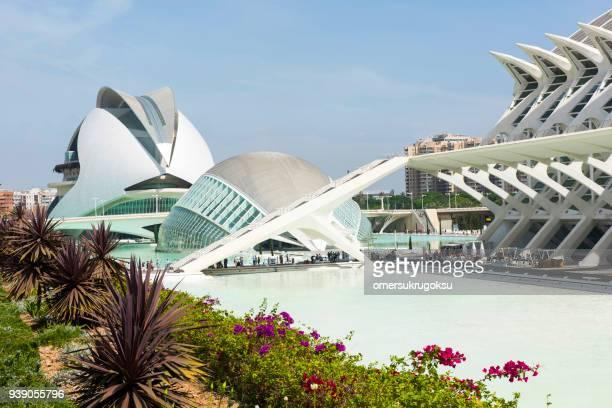 stadt der künste und wissenschaften – valencia - palau de les arts reina sofia stock-fotos und bilder
