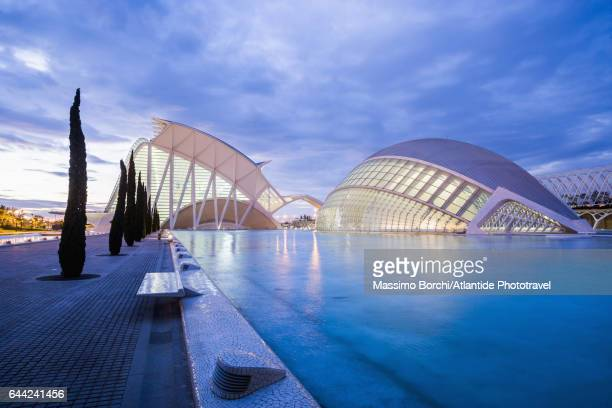 City of Arts and Sciences, L'Hemisferic and the Museum of Sciences Principe Felipe