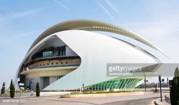 stadt der künste und wissenschaften in valencia - palau de les arts reina sofia stock-fotos und bilder