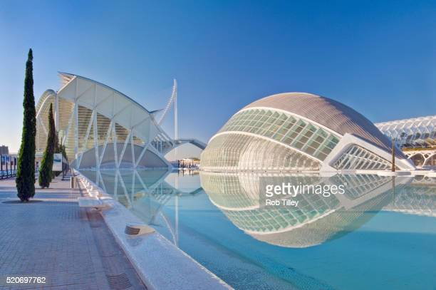 city of arts and sciences - valencia spanje stockfoto's en -beelden