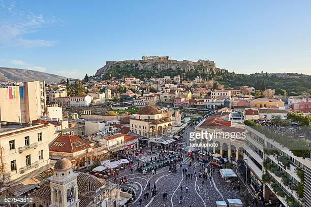 City of Athens and Acropolis by Evening