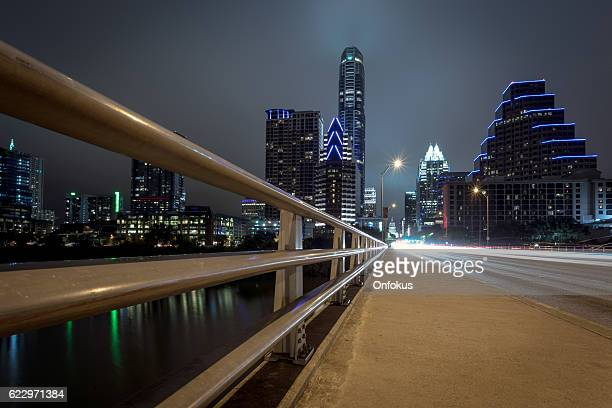 city of austin texas congress avenue at night - avenue stock pictures, royalty-free photos & images