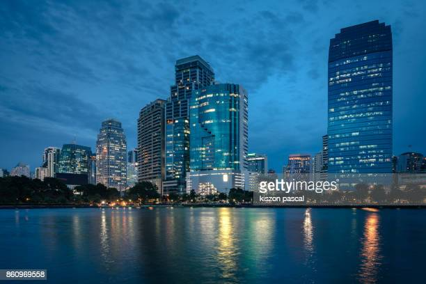 City of Bangkok in Thailand in night