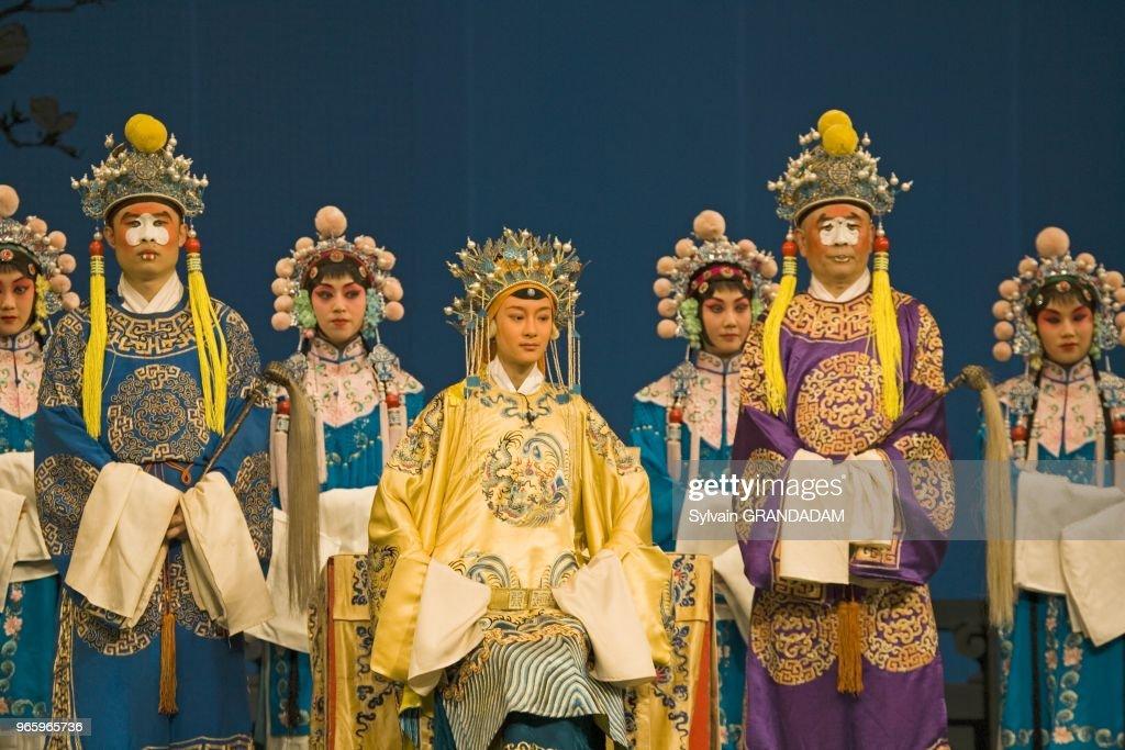 COSTUMES TO THE OPERA OF PEKIN, CHINA : News Photo