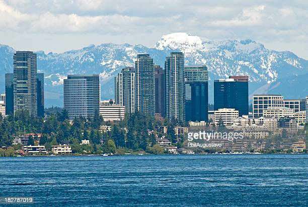 city of bellevue in washington - washington state stock pictures, royalty-free photos & images