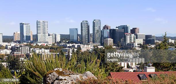 city of bellevue in washington state - bellevue washington state stock photos and pictures
