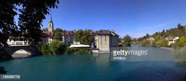 Stadt von Bern mit See, Blick von der Brücke, Schweiz