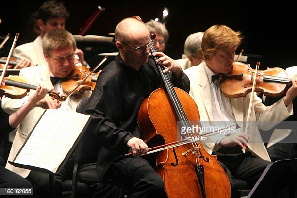 City of Birmingham Symphony Orchestra at the Rose Theater as part of Mostly Mozart Festival on Thursday night August 14 2008This imageThe cellist...