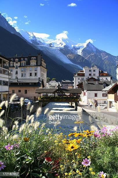 City of Chamonix on a Synny Day, France